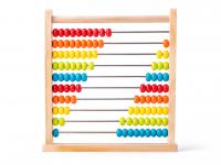 Abacus- natural with colored beads