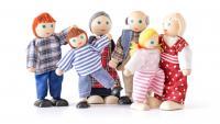 Dolls for doll house - farm family, 6 pcs