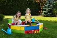 Sandpit with protecting cover - coloured