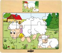 Puzzle set – various animals, displ. 12pcs